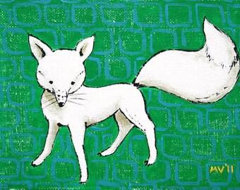 The White Fox- Print 11x15