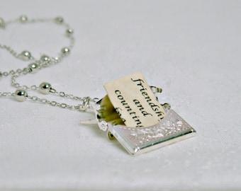 Letter Locket Necklace, Envelope Necklace, Friendship Necklace, Mom Gift, Bird Necklace, Personalized Necklace, Wholesale, Secret Message