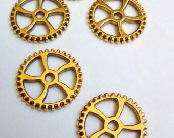 5 connectors gear steampunk metal 18mm
