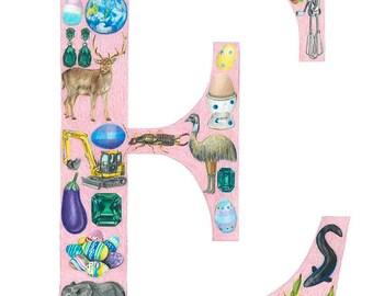 Alphabet Print: E