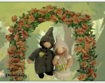 Bride and Groom Gnome  Pattern only IMMEDIATE DOWNLOAD