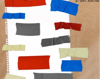 """Tape Scrapbook Element Pack - """"All Taped Up"""", a variety of masking tape, duct tape and painters tape to enhance your digital scrapbook"""