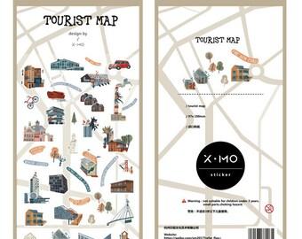 Stickerset von x-mo - Tourist map