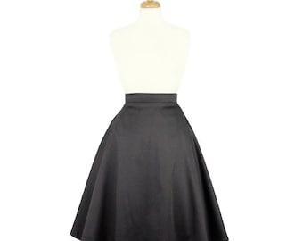 SPRING SALE!!Gray Full Circle Skirt