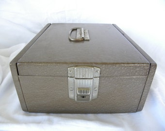 Special *VINTAGE Heavy Duty Metal Check Box or File Box Industrial