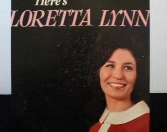 Recycled vinyl album cover notebook - Loretta Lynn!