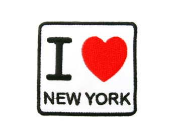 I Love NY New York Embroidered Applique Iron on Patch