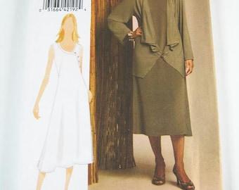 Vogue Dress Pattern V8474 Misses' Dress & Jacket - Sz 8/10/12/14