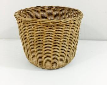 "Simple Vintage Wicker Planter Basket 6"""