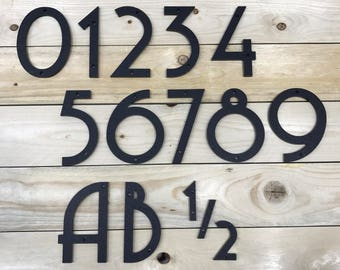 5 1/2 inch Art Deco House Numbers Letters