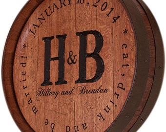 Personalized Wine Barrel for Wedding