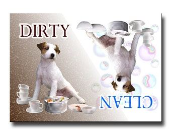 Jack Russell Terrier Clean Dirty Dishwasher Magnet