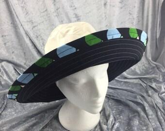 Black sun hat, white sun hat, black and white sun hat, black cotton hat, white cotton hat