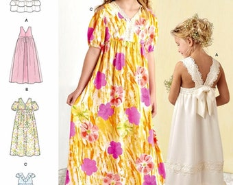 Sewing Pattern for Girls' Formal Dress, Tween Girls' Dress Pattern, Flower Girls' Dress Pattern, Simplicity Sewing Pattern 8352