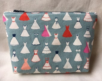 Party Dresses Zippered Pouch / Cosmetic Bag