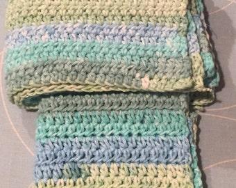Crocheted Dishcloth & Dishtowel Set - Country Stripes