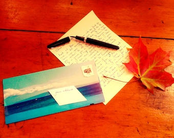 Subscription of 3 monthly letters sent in handmade envelopes.