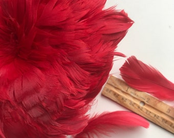 GOOSE COQUILLE Feathers,  Strawberry Red/ 412 - R