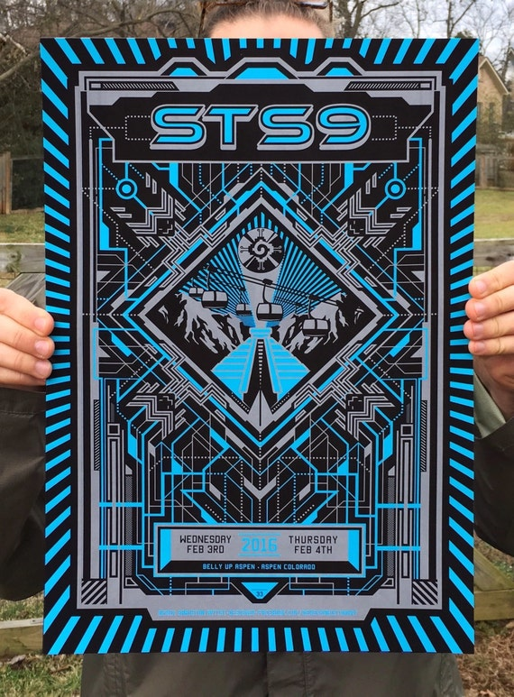STS9 Belly Up Aspen Colorado Winter Tour 2016 Poster Print