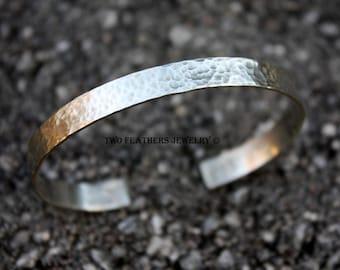 Sterling Silver Cuff Bracelet - Hammered Cuff - Silver Cuff - Silver Bracelet - Sterling Silver Jewelry - Modern Jewelry - Artisan Jewelry
