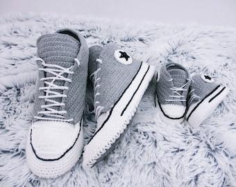 Crochet Shoes Crochet slippers  Crochet Sneakers Hand knit slippers, Adult slippers, Childs slippers, Ladies slippers, Child slippers,