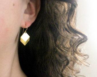 Gold Chevron Earrings, Gold Diamond Earrings, Gold Geometric Earrings, Simple Gold Earrings, Gold Dangle Earings, Dainty Modern Jewelry