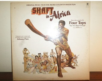 Vintage 1973 Vinyl LP Record Shaft in Africa Soundtrack Johnny Pate Very Good Condition 11274