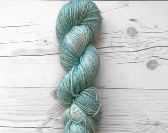 "Maven Sock - ""Teal fo' Real"" - Fingering Weight - Hand Dyed Yarn"