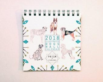 Mini 2018 Dogs Wall Calendar