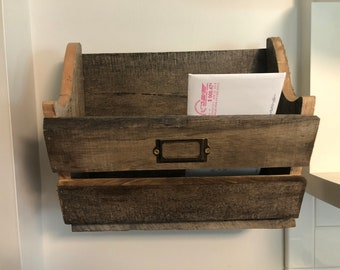 Reclaimed Wood Mail Box