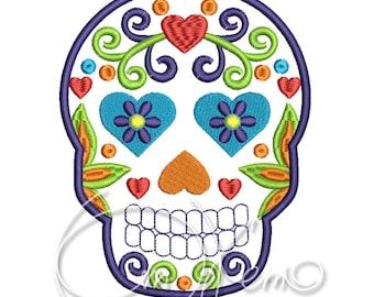 MACHINE EMBROIDERY FILE - Sugar Skull embroidery, Dia de los muertos, Día de los Angelitos, Day of the dead embroidery