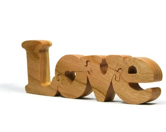 Valentines day gift Love Wooden Puzzle