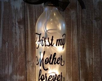 Mother's Day Wine Bottle/Decoration/Glass/Gift/Friend/Lamp?lights/Nightlight