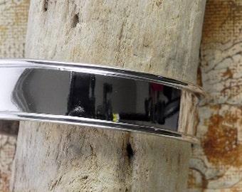 """14.5mm x 7"""" Silver Plated Channel Bracelet Blank - 10mm Silver Channel Cuff Blank - 1 Piece  2087"""