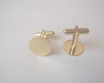 Sturdy gold plated cuff link backs-1 pair-free shippng
