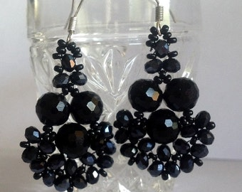 TUTORIAL  for SPARKLING CRYSTAL  Beadwoven Earrings Pattern