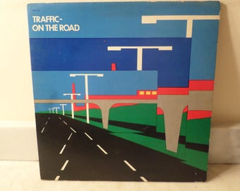 Vintage 1973 Vinyl LP Record Traffic On the Road Very Good Condition 14954