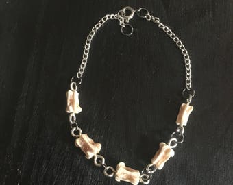 Real animal bone link bracelet