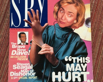 Hillary Clinton,Hillary Satire,Spy Magazine,Suitable Framing,Hillary Clinton Magazine,Hillary Joke,Presidential Ephemera,Hillary Collectible
