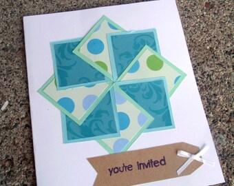 Pinwheel Greeting Card - Blank
