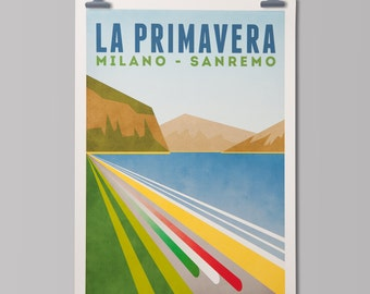 Cycling Art Print 'Milan-San Remo'
