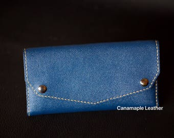 Leather Carry -All Clutch Wallet/ Card Case