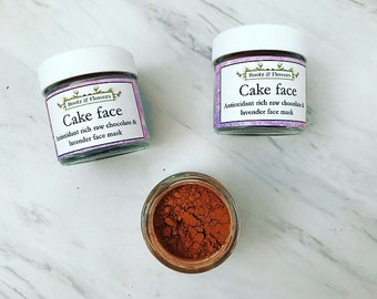 CAKEFACE super antioxidant face mask | chocolate face mask | raw cacao | anti-aging face mask | organic face mask | gifts for her | mask