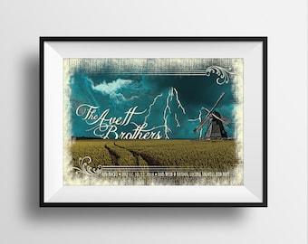 The Avett Brothers Screen print Poster Red Rocks - Original