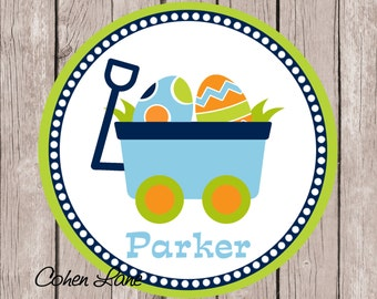 Printable Personalized Easter Wagon iron on Tshirt Transfer Design.  Easter Iron On Transfer.  Personalized iron on. Easter Bunny Shirt.