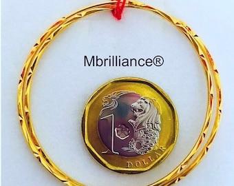 oversized Solid 22k gold bali hoop earrings 916 gold