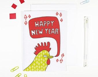 Chinese New Year Rooster Card for Chinese New Year
