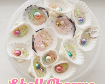 Shell resin charms free shipping