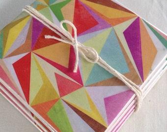 Ceramic Tile Coasters - Retro Style