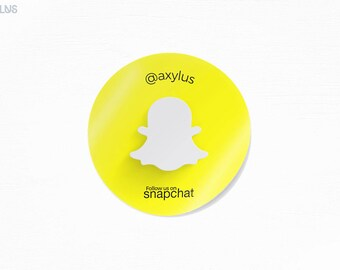 Circle Snapchat Stickers - Mini Round Stickers - Social Media - Design and Printing - 70lb Stock - 500, 1000, 2500 | FREE Shipping |